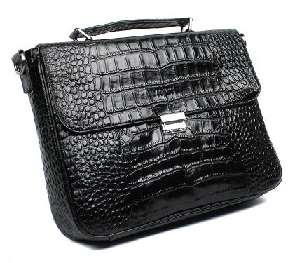 mens crocodile pattern briefcase at PILAEO - Suggested from PILAEO Magazine Briefcase Guide