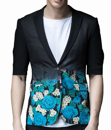 turquoise floral mens summer blazer