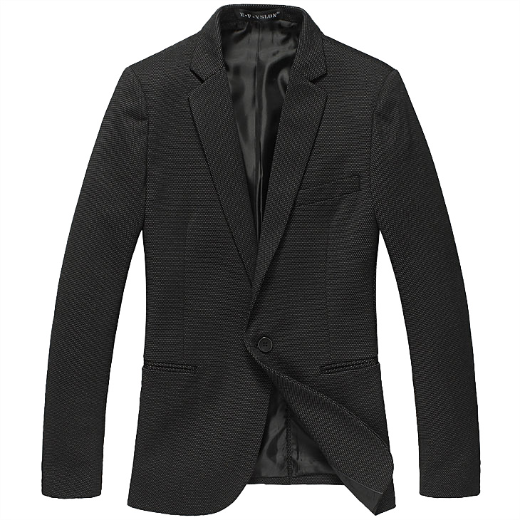 Atraente Men High End Inglaterra Slim Preto Blazer Jacket