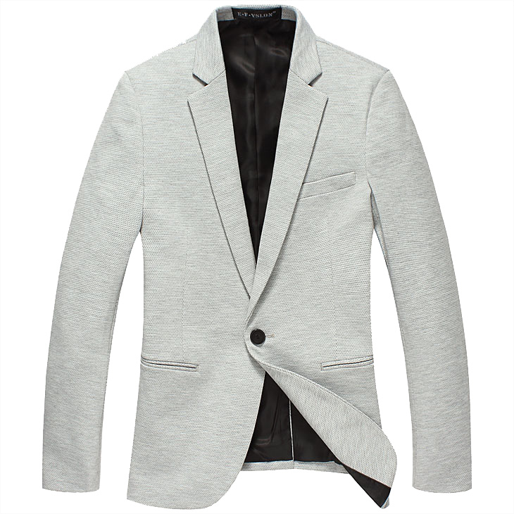 Atraente Men High End Inglaterra Light Gray Magro Blazer Jacket