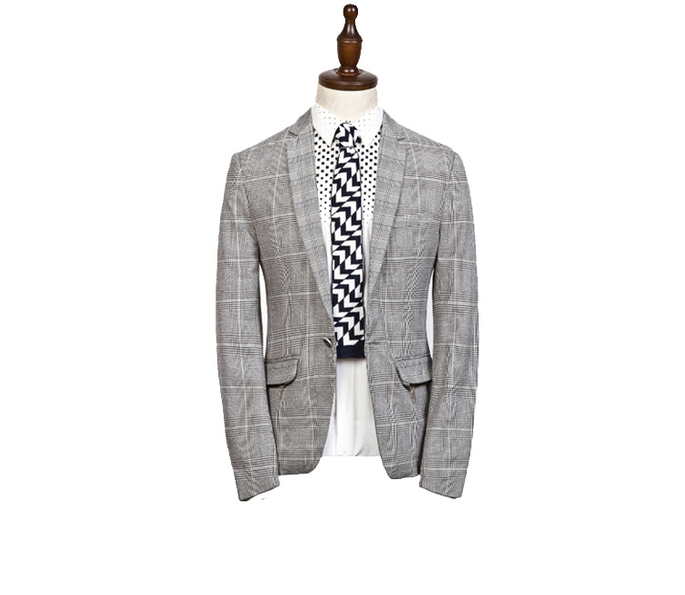Authentic Urban Men Black and White Grade Blazer Jacket
