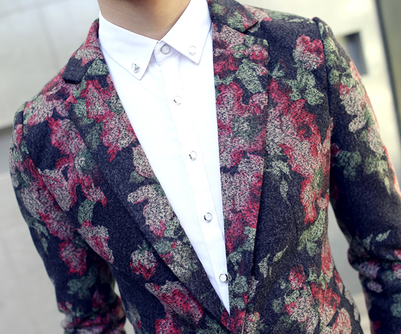 Brilliant Mens Floral Modern Blazer at Pilaeo Mens Fashion
