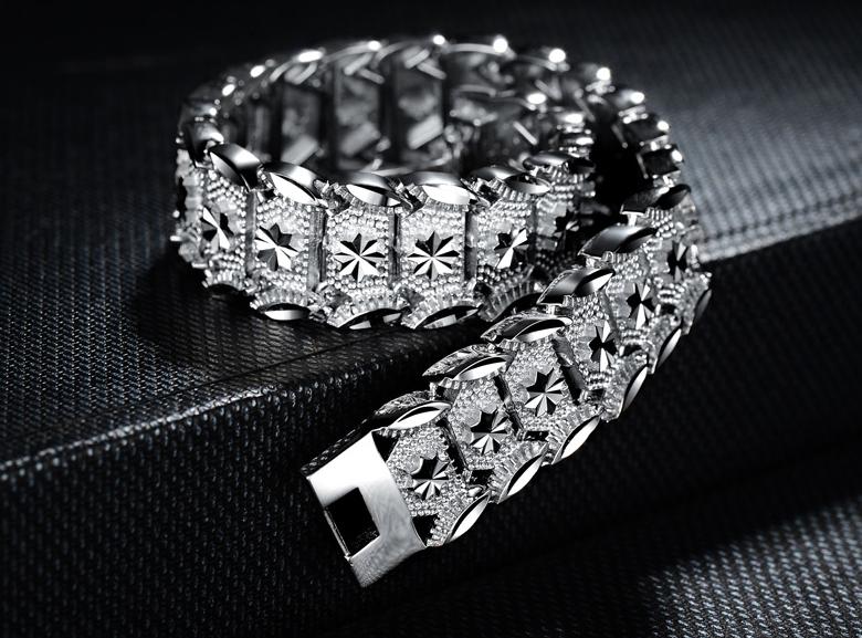 Brilliant Sterling Silver 925 Mens Bracelet Pilaeo