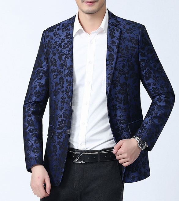 Brilliant Tailored Cool Blue Floral Awesome Mens Blazer