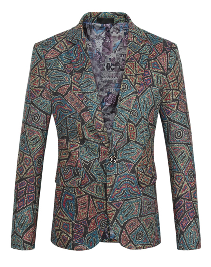 ancienne blazer art hommes verts turquoises charmé luxe