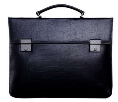 Chic Crocodile Pattern Professional Leather Briefcase