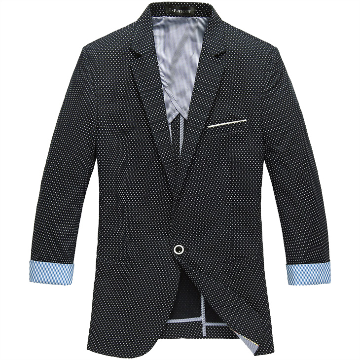 PILAEO High End Angleterre Thin manches Deep Blue style Blazer J