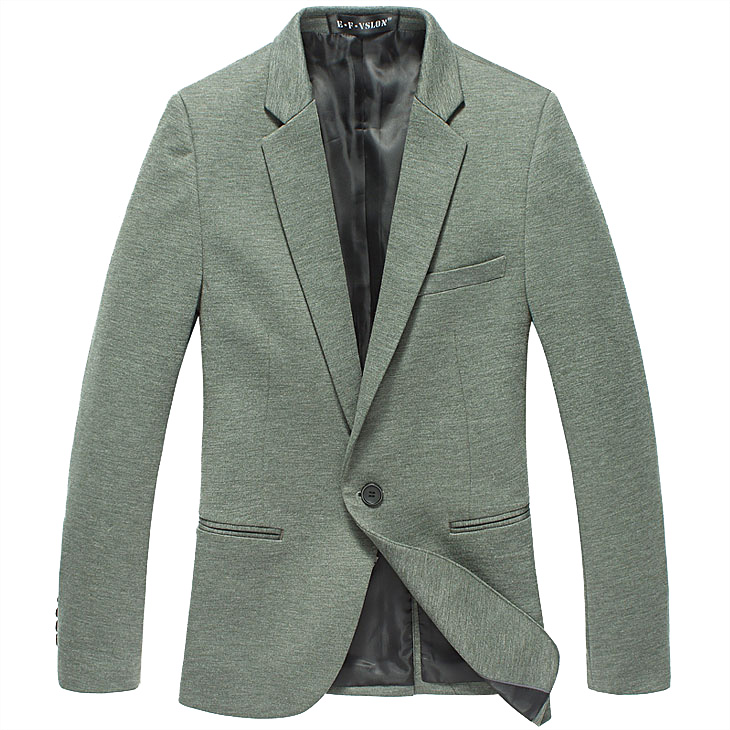 PILAEO Thin Stoff Korean Green Design Schlank-Blazer-Jacken