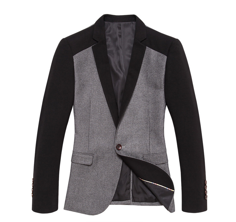 Criativa Inglaterra Hit cor de costura Fit Blazer Jacket