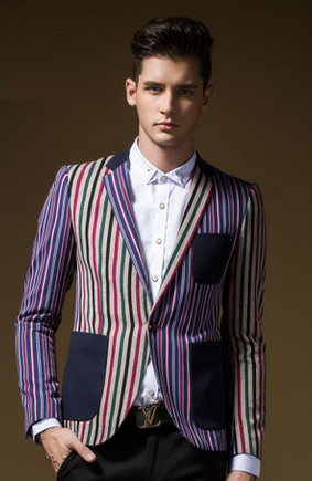 Criativa Jacket Multicolor Striped Blazer