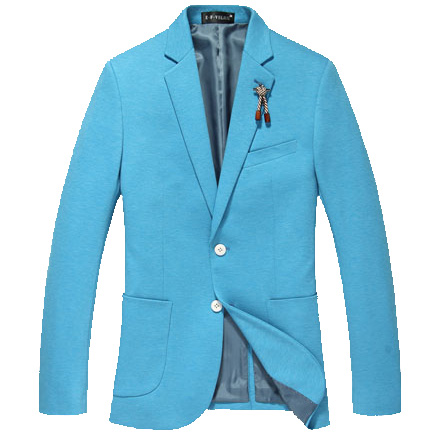 Dashing Vibrant Rhythm Korean Brosche Blau-Blazer-Jacken