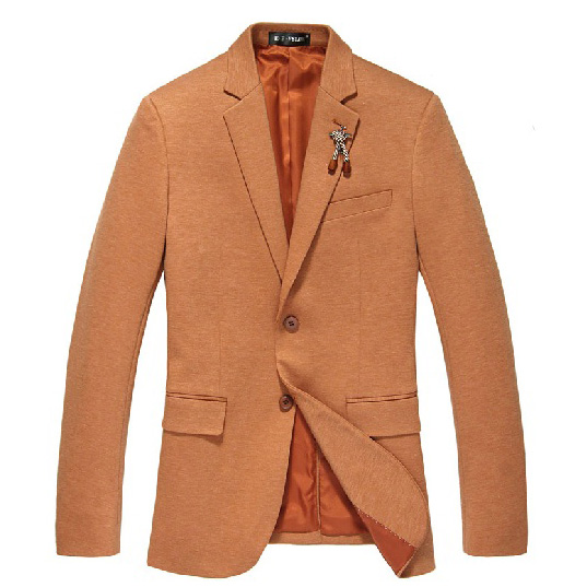 Dashing Vibrant Rhythm Korean Brosche orange Blazer-Jacken-