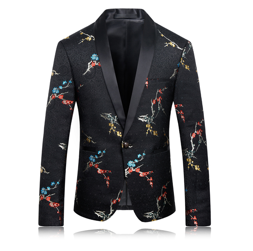 embroidered floral blazer for men at PILAEO HERE