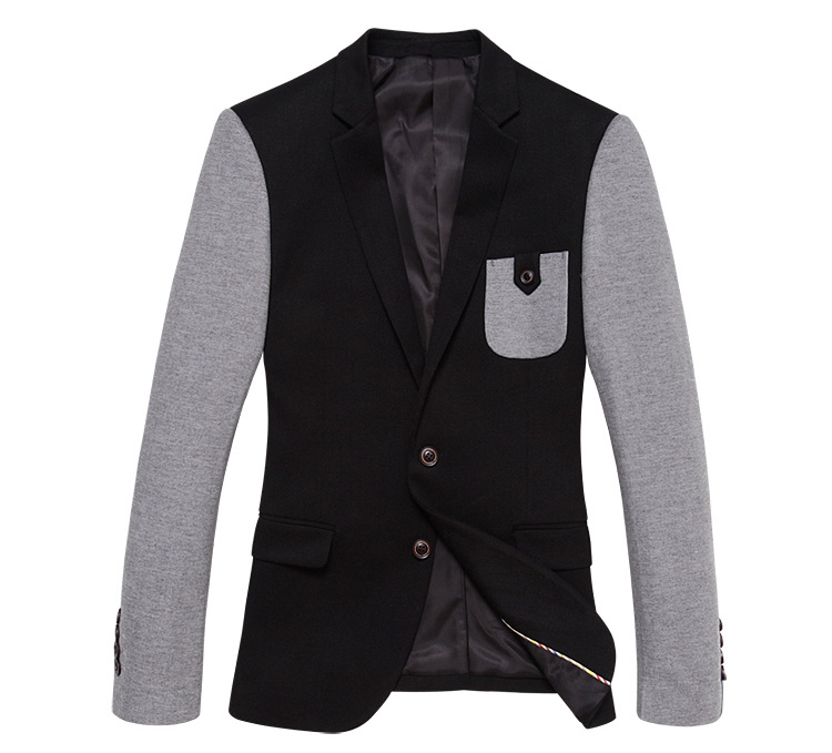 Inglaterra bolso decorativa Splice Costura Blazer Jacket