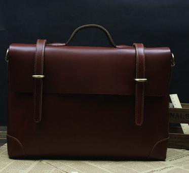 Exclusive Genuine Leather Brown Vintage Mens Briefcase