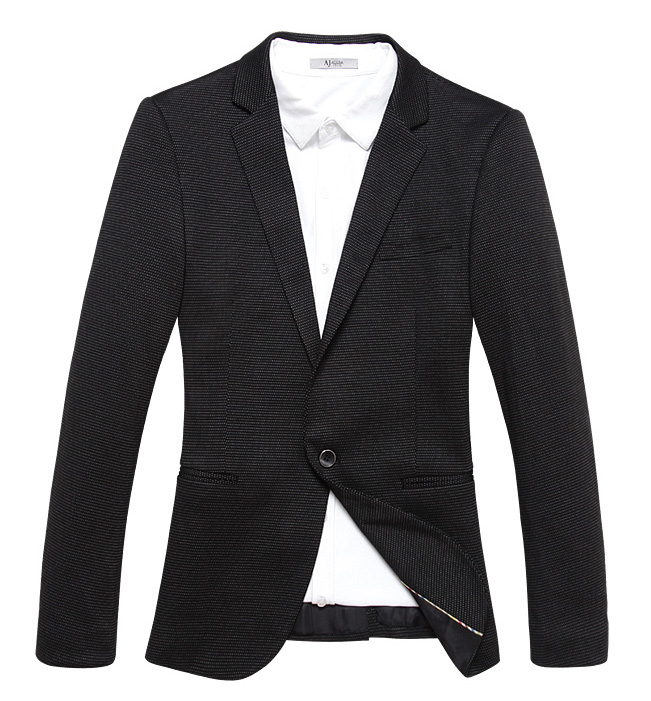 Exclusive malha Onda West Point Magro Preto Blazer Jacket