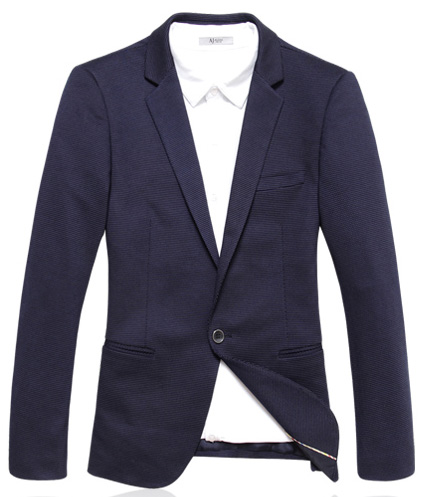 Exclusive malha Onda West Point Magro Azul Blazer Jacket