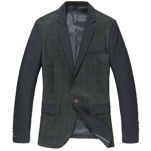 Hit coreano Exclusive cores verde da manta Estilo Blazer Jacket