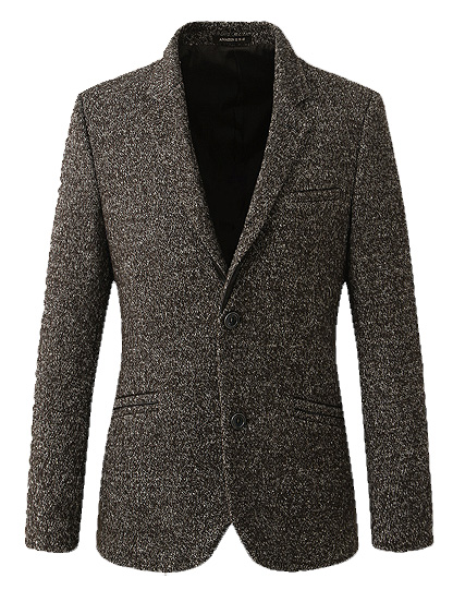 In Style Dongkuan dicke Wolle High End Dark Gray-Blazer-Jacken