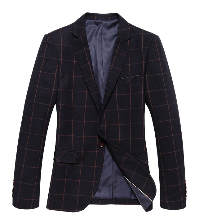 Genuine Inglaterra Magro Plaid Tide Coffee Grade Blazer Jacket