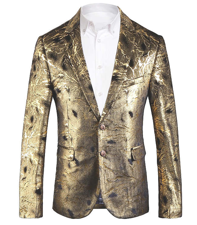 710bfb9b14 Gold Shiny Mens Luxury Velvet Blazer