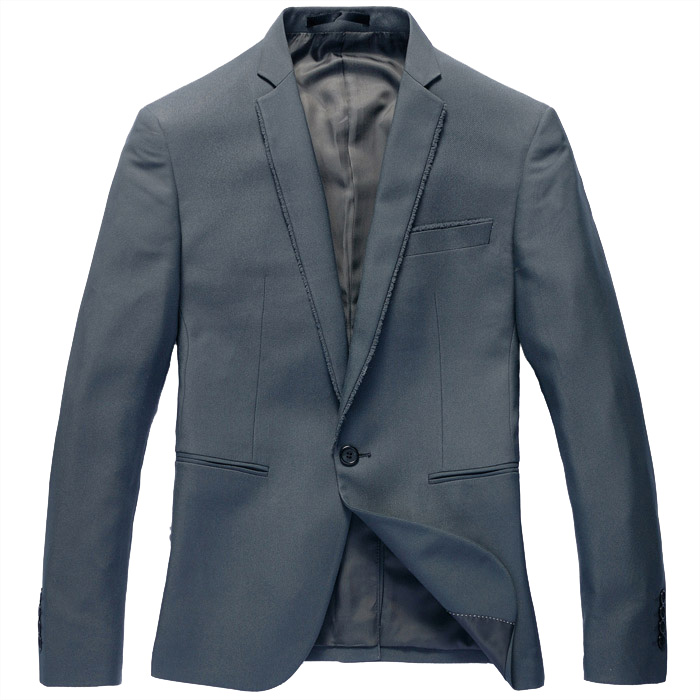 Handsome koreanische Single Button Schlank Celadon-Blazer-Jacken