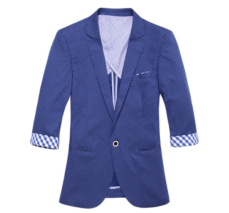 High-end Cropped Azul Sleeve White Point Blazer Jacket