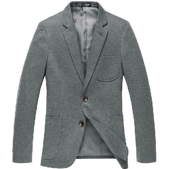 Men`s High End Magro coreano Leisure Cinza escuro Blazer Jacket