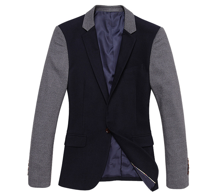 Sophisticated Caught Jacket Fluff Marinha Costura Ocidental Blaz