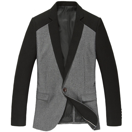 Sophisticated Color Design Korean Fashion Grau-Blazer-Jacken