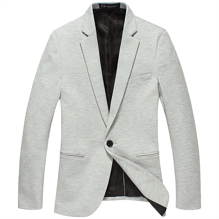 Anspruchsvolle Tupfen Korean Thin Light Gray-Blazer-Jacken