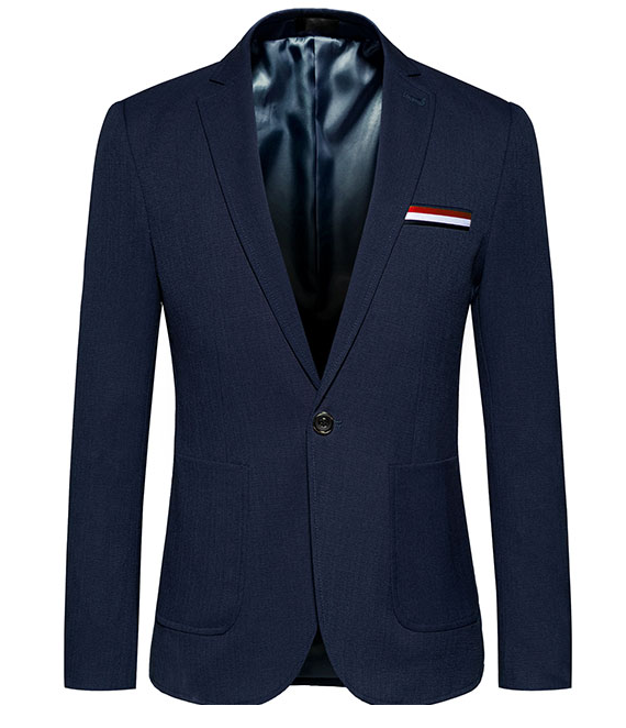 bleu marine bouton simple gentleman rouge blanc bleu badge blazer léger