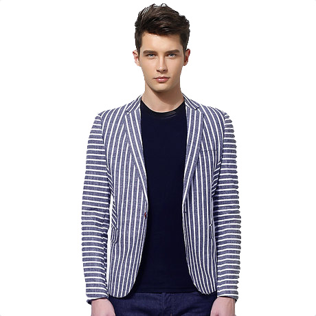 High End England Korean Asian Style Stripped-Blazer-Jacken
