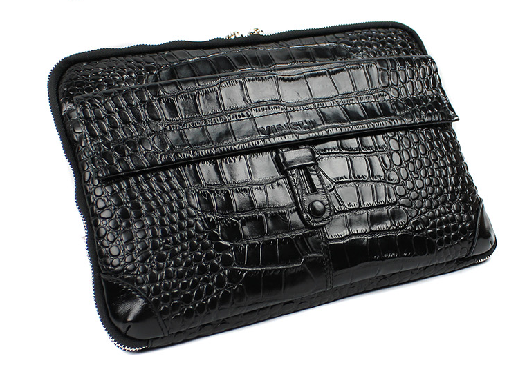 * Savvy Krokodil Muster Mens Zip Tasche Clutch Bag
