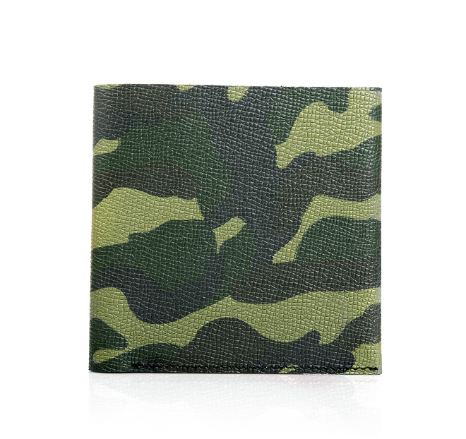 savvy mens cuir camouflage vert portefeuille moderne