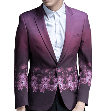 fuchsia mens luxury floral blazer