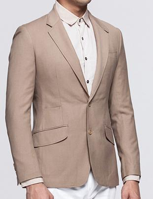 Luxo High End Tan Cor italiano Cut Blazer