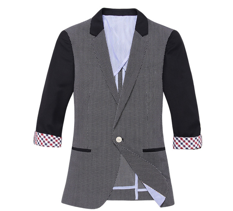 Luxus Hochgekrempelte Ärmel Seventh Stitching-Blazer-Jacken