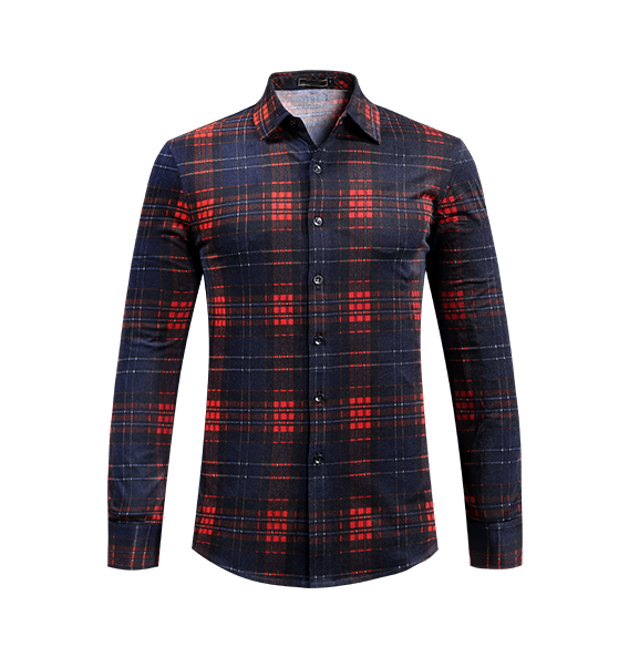 112cae0d4a Sophisticated Red Black Mens Plaid Dress Shirt
