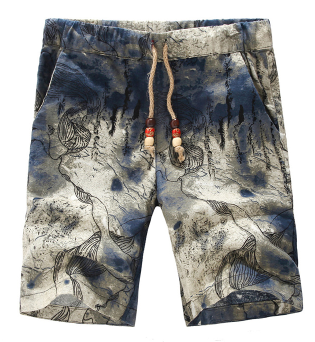 Creative Drawstring élégant traditionnel Hommes Shorts