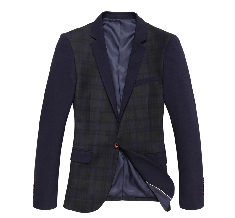 Stilvolle England Plaid Stitching West Schlank-Blazer-Jacken