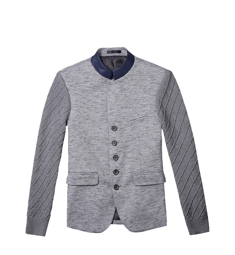 Costura Stylish Collar Magro Light Gray Blazer Jacket