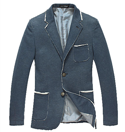 Savvy High-End koreanische dünne Burr Blau Tide-Blazer-Jacken