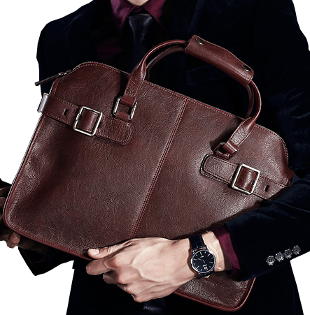 Vintage Brown London Trend Mens Leather Luxury Briefcase Bag - Suggested from PILAEO Magazine Briefcase Guide