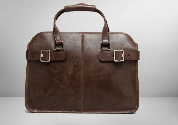 Vintage Brown Briefcase For Men Via PILAEO