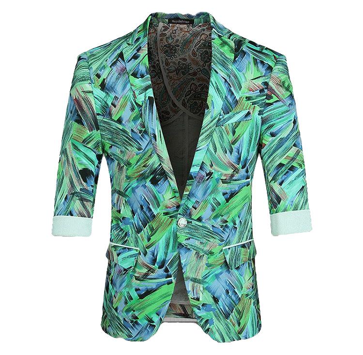 camouflage summer blazer