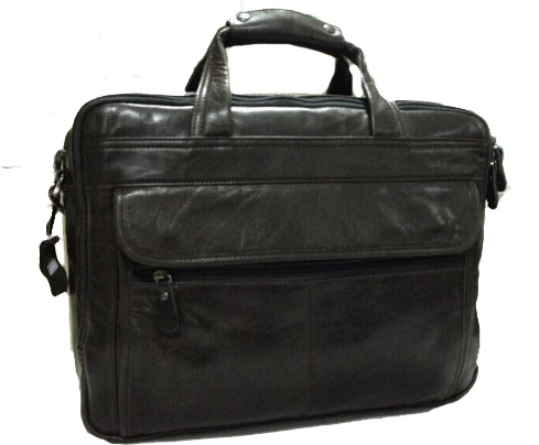 Business Casual grande capacidade Briefcase Homens Dark Gray Bag