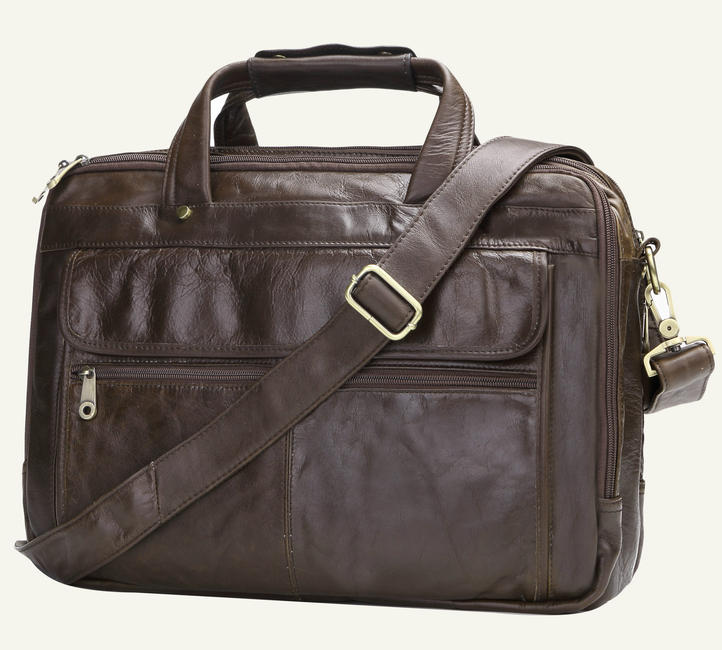 Business Casual grande capacidade Briefcase Homens Shoulder Brow