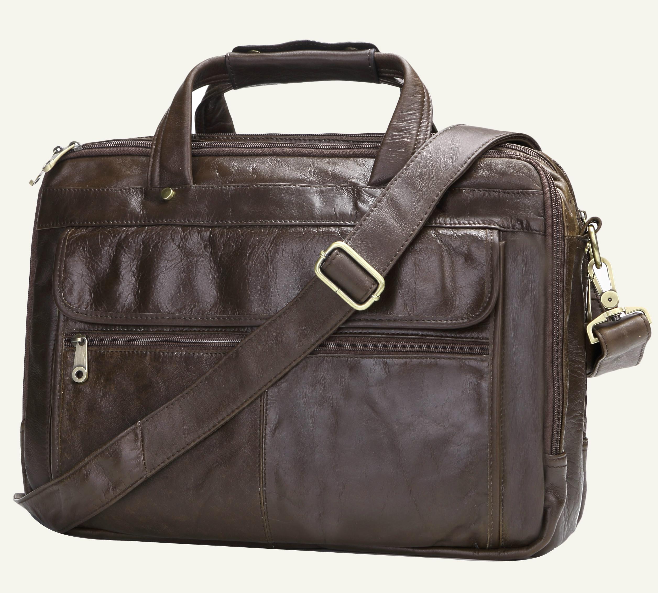 f9f39c480d Business Casual Large Capacity Briefcase Men Shoulder Brown Bag