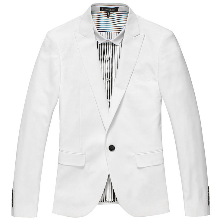 Sophisticated esguio e elegante Pure White Jacket Estilo Blazer
